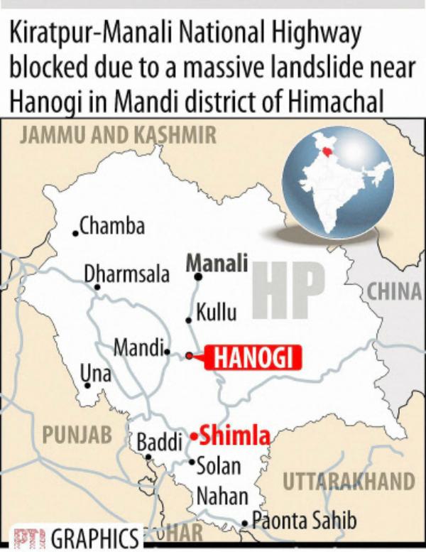 landslide manali