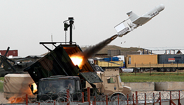 firing unmanned drone