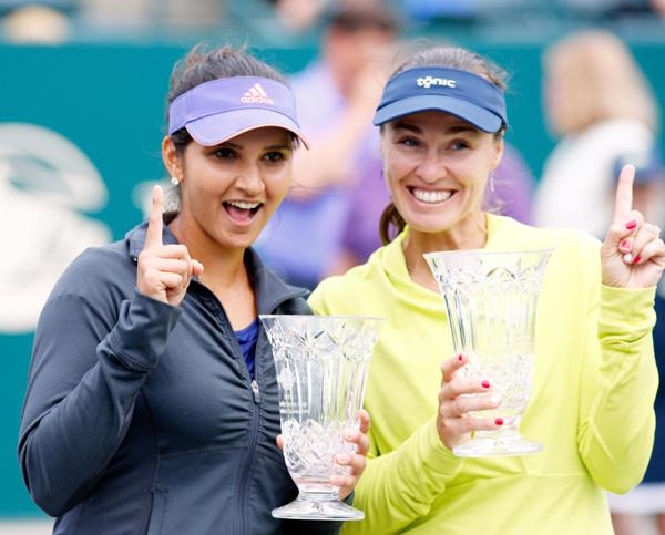 Sania Mirza and Martina Hingis