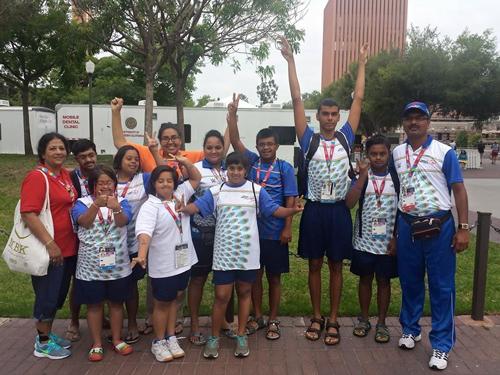 Victorious Indian Aquatics team of the Special Olympics
