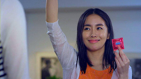 china condom girl