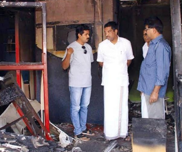 Rafeeque Taliparamba studio burnt