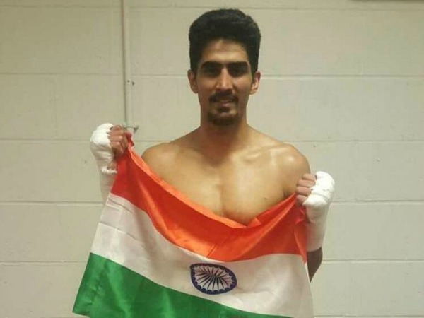 Vijender Singh after his third win