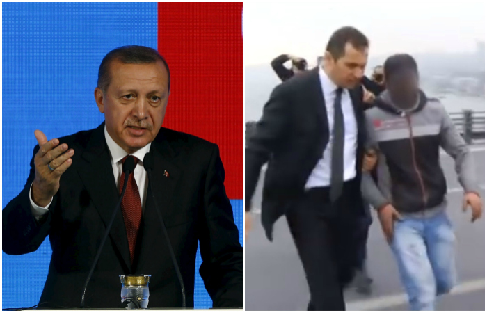 Turkish President Spots A Guy Trying To Commit Suicide On A Bridge, Talks Him Out Of It