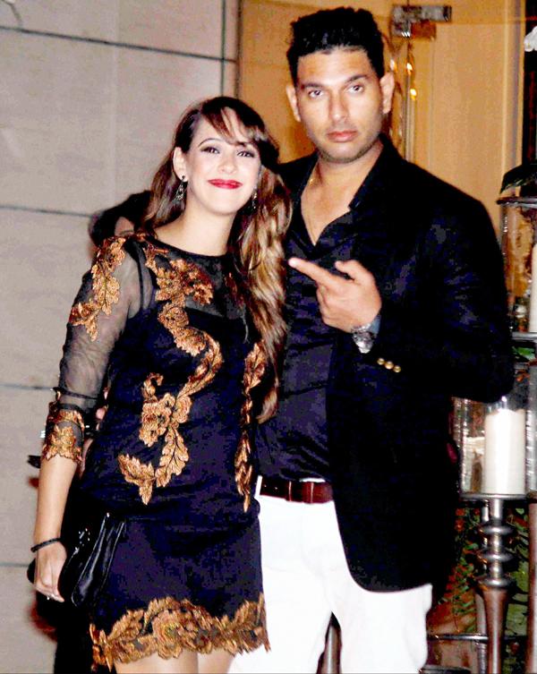Yuvraj Singh with fiancee Hazel Keech