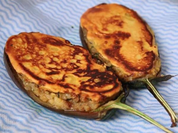 Zero Oil Recipe: Bharvan Baingan