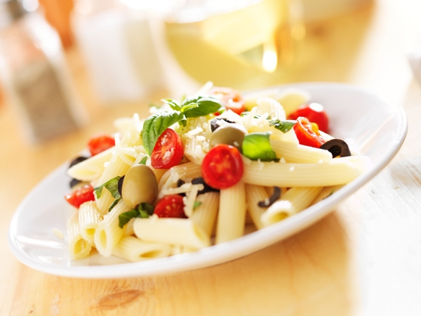 Healthy Penne And Fruit Salad