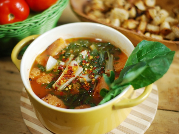 Hot And Sour Chana Soup Recipe