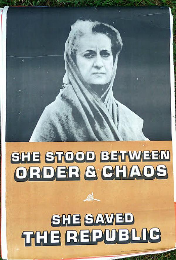 indira gandhi poster