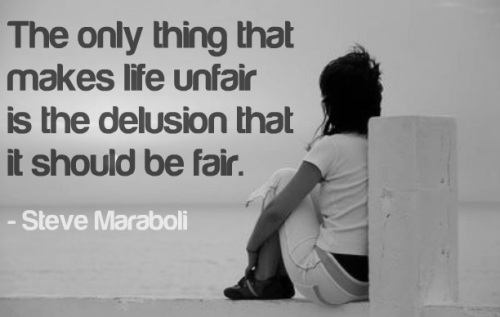 Life is fair quote