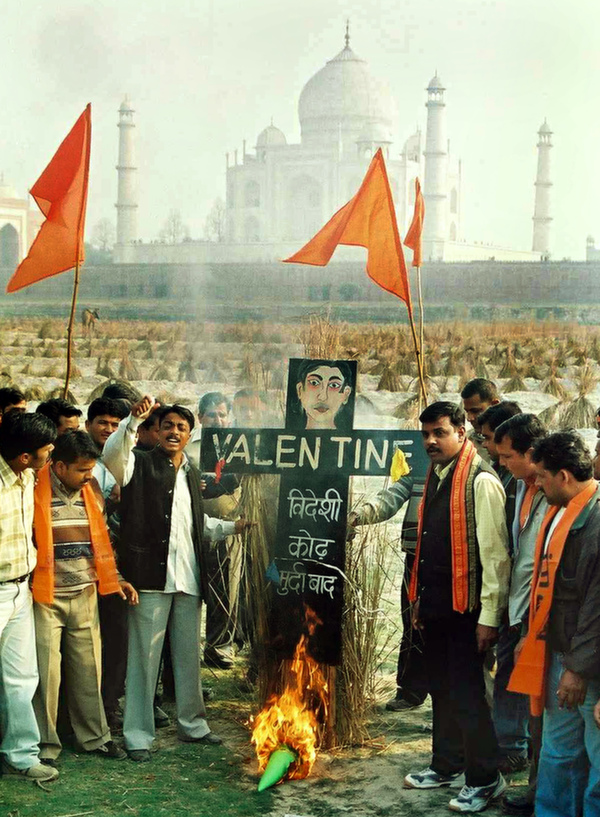 agra valentines day protest