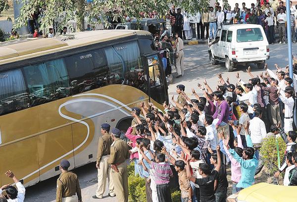 cricket team bus