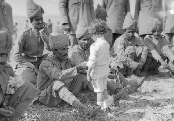 French boy introducing himself to indian army