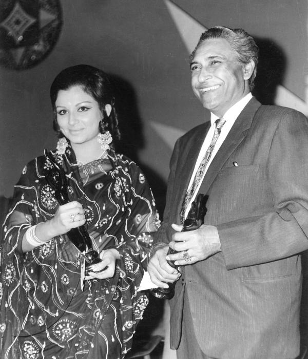 Sharmila Tagore and Ashok Kumar