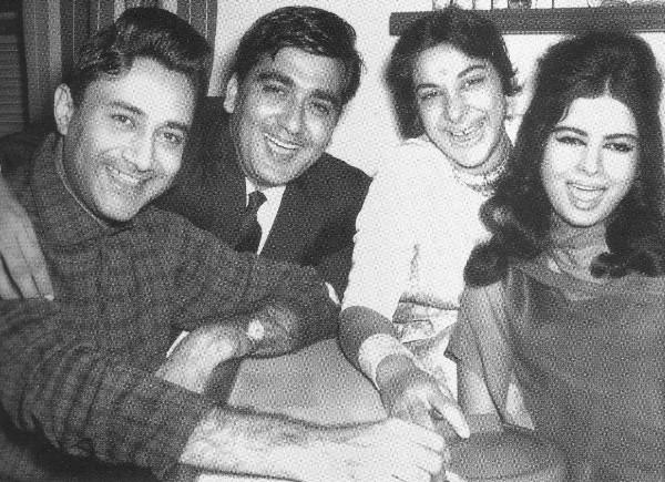 Sunil Dutt, Nargis and Dev Anad