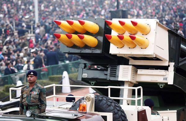 Pinaka multi barrel rocket system