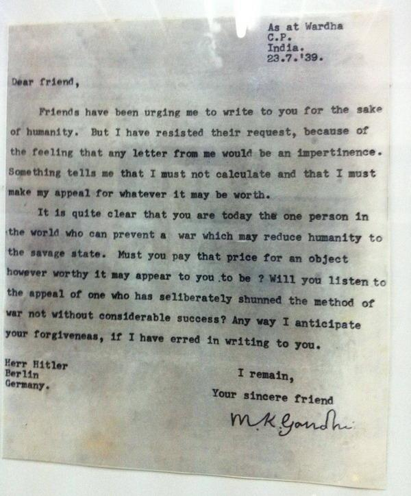 Mahatma Gandhi Letter