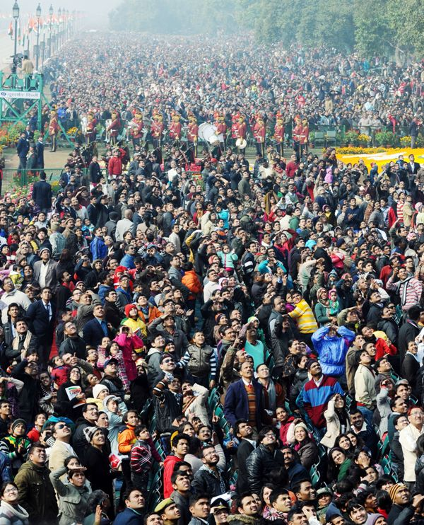 Crowd at republic day