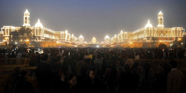 Rashtrapati Bhavan lighting