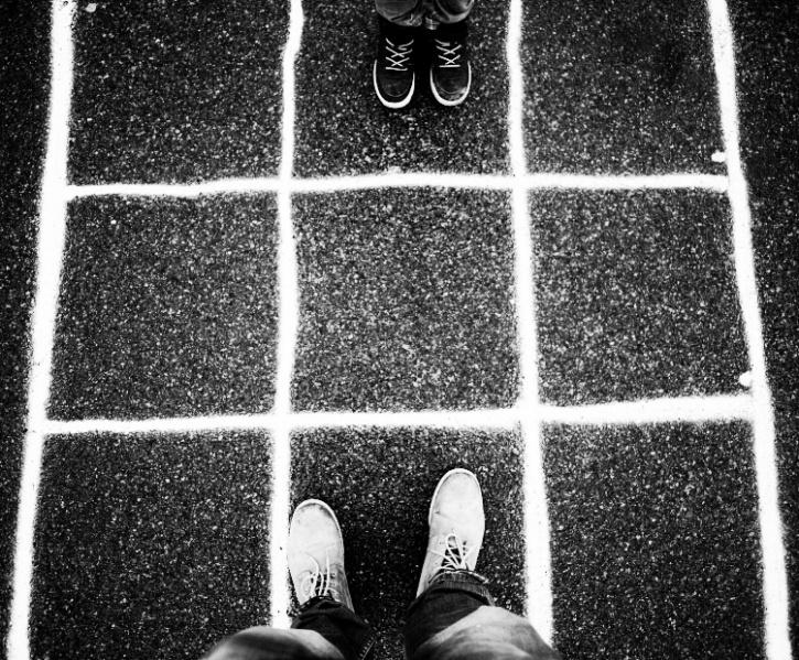 Feet do the talking.
