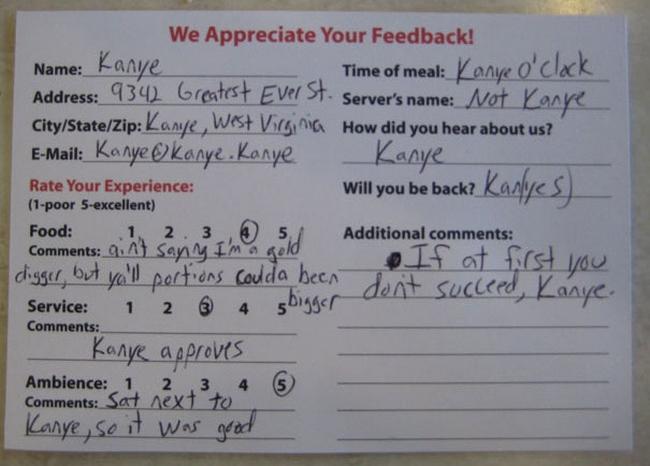 Kanye feedback