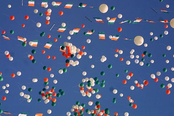 Helium balloons republic day