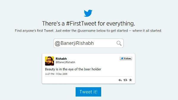 First Tweet