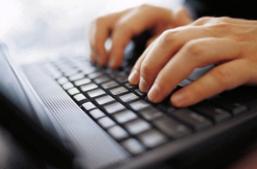 typing a letter