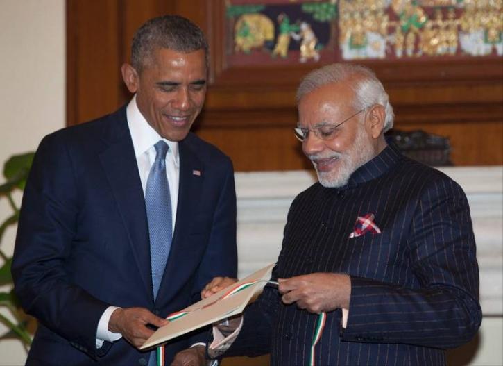 Modi and Obama in India