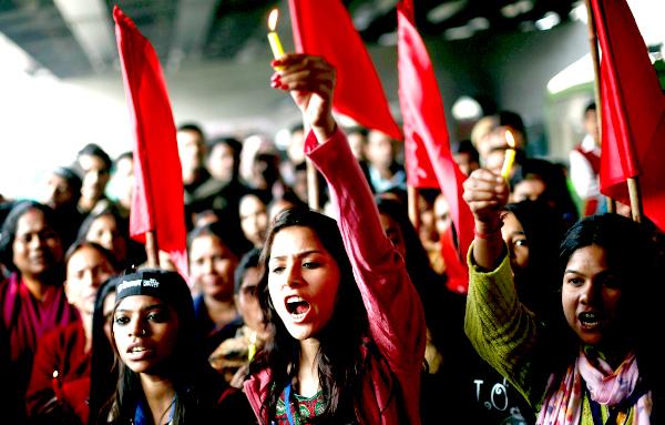 girls protesting rape