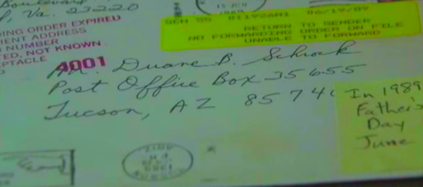 Duane Schrock junior card letter