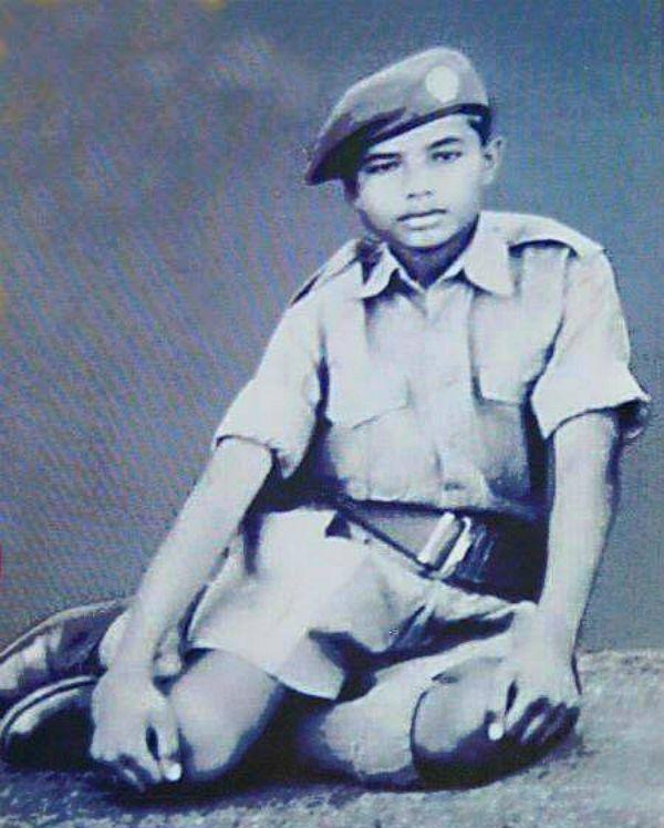 Narendra Modi in his childhood days