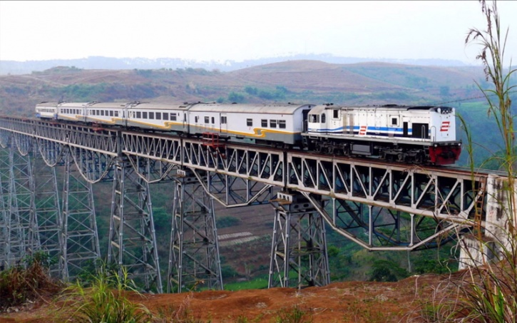 Argo Gede Train Railroad - Indonesia