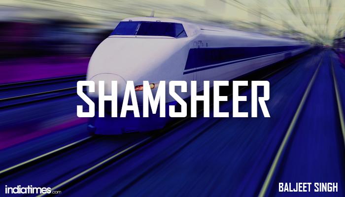 Shamsheer Indian Bullet train name