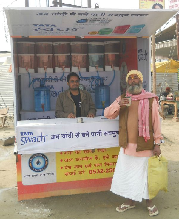 Tata Swach partnered with UP water board to provide free water to pilgrims.