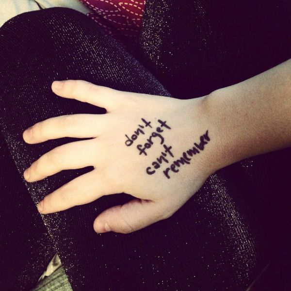 writing on hands
