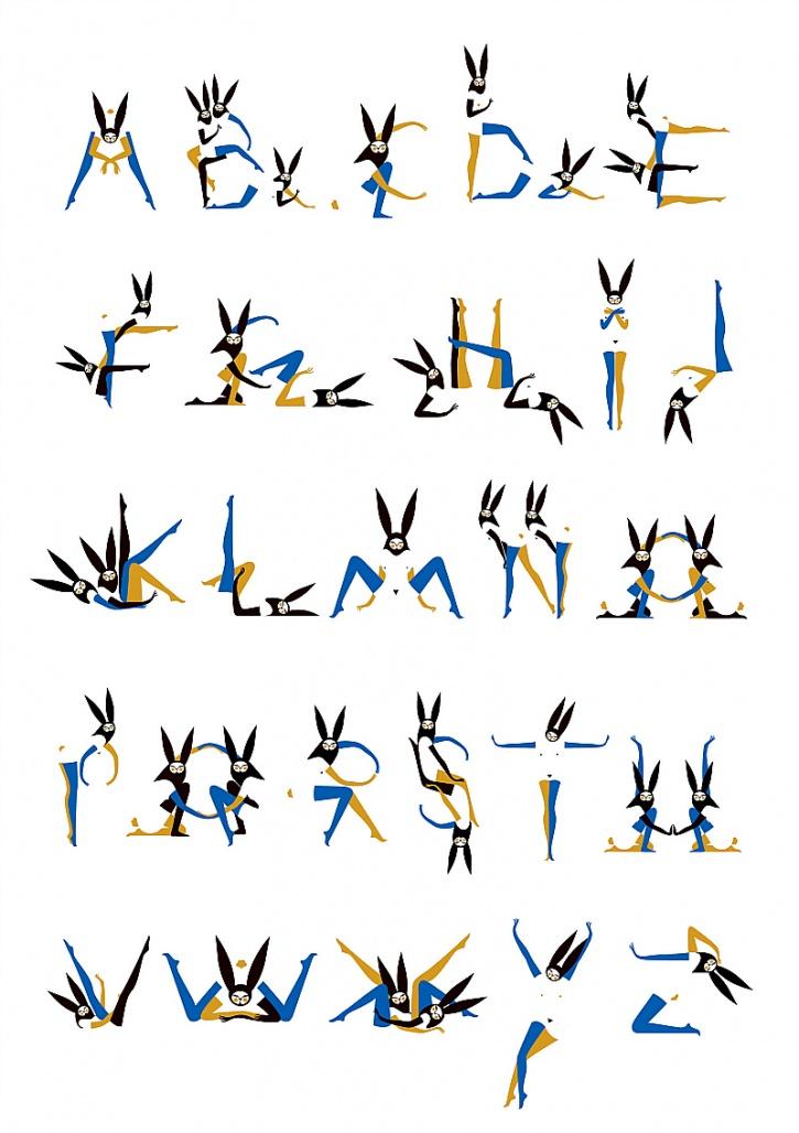 alphabet alphabunnies