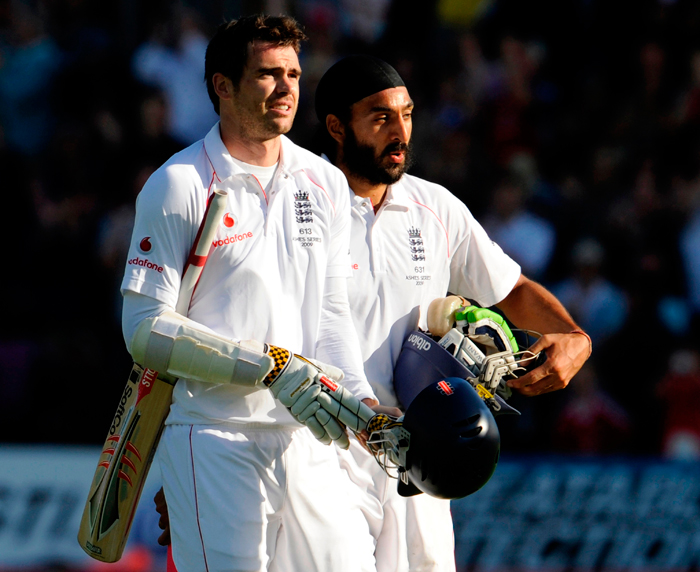 James Anderson and Monty Panesar defied Australia in Cardiff during the 2009 series