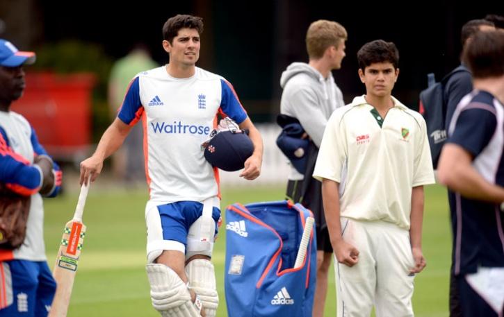 Ashes 2015: Arjun Tendulkar Alastair Cook