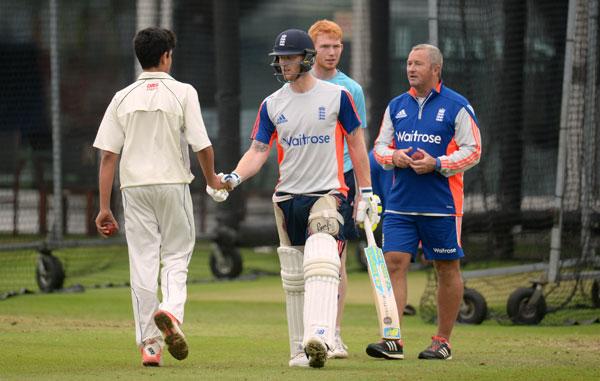 Ashes 2015: Arjun Tendulkar pictured with Ben Stokes