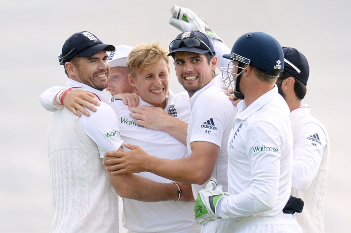 James Anderson has said the idea of offering a beer was Alastair Cook's idea.