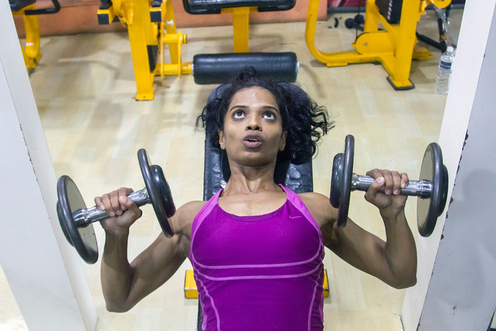 It was in her stay in Mumbai where she was captivated by the sport of bodybuilding.