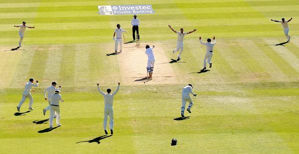 Australia celebrate winning moment at Lord's