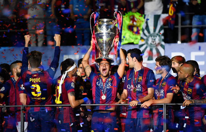Barcelona, who recently won the treble in Europe, are the fourth most valuable team.