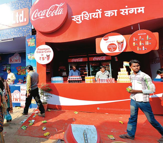 Coca Cola outlets at Kumbh Mela