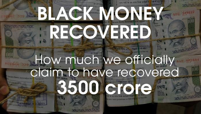 black money recovered