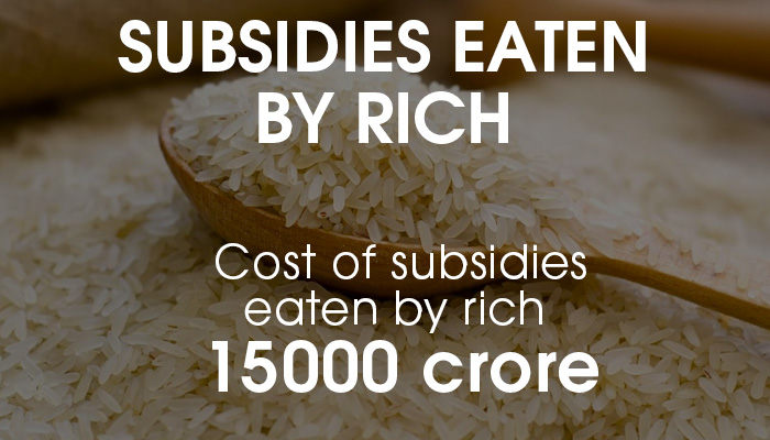 subsidies eaten by rich in india