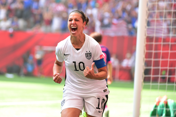 Carli Lloyd scored four goals in the first 16 minutes to help US defeat Japan in the final.