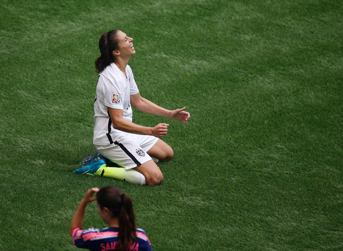 Carli Lloyd is the only player in football history (from either gender) to score the game-winning goal in two separate Olympic gold medal matches.