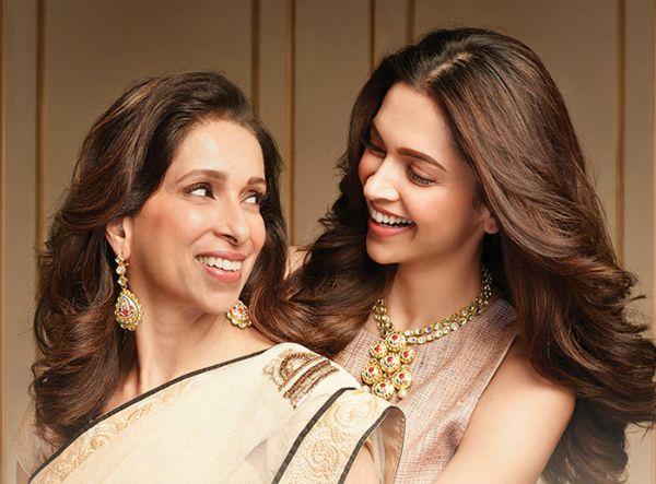 Deepika Padukone and her mom